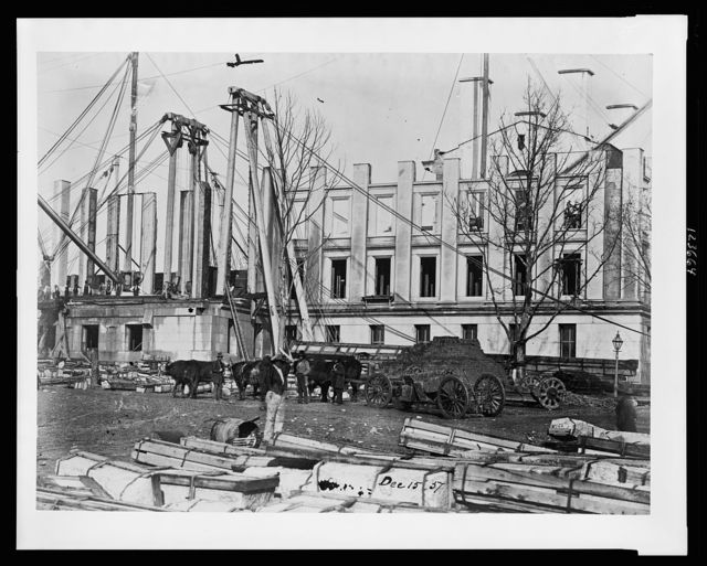 [Construction of the United States Treasury Building, Washington, D.C.]