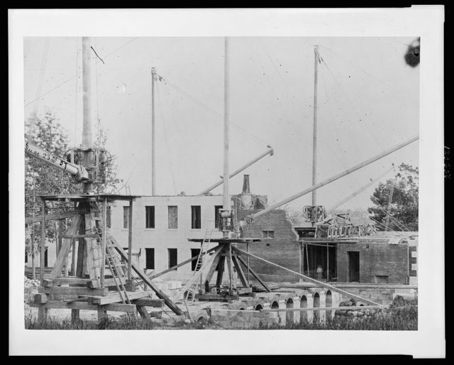 [Construction of the United States Treasury Building, Washington, D.C., during initial stages]