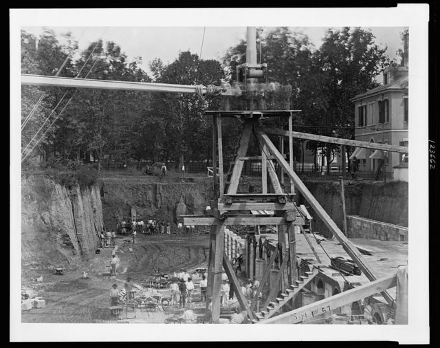 [Construction site for the United States Treasury Building, Washington, D.C.]