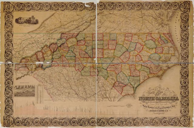 Cooke's new map of the state of North Carolina : constructed from actual surveys, private contributions & authentic public documents procured for the purpose under a special resolution of the General Assembly of the state /