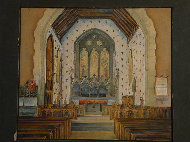 [Design drawing for Chancel redecoration for St. Thomas Episcopal Church in Mamaroneck, New York]