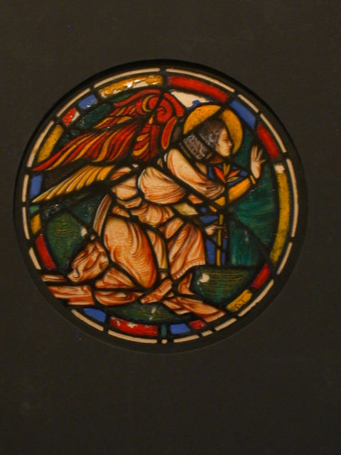 [Design drawing for stained glass Angel tondo window]