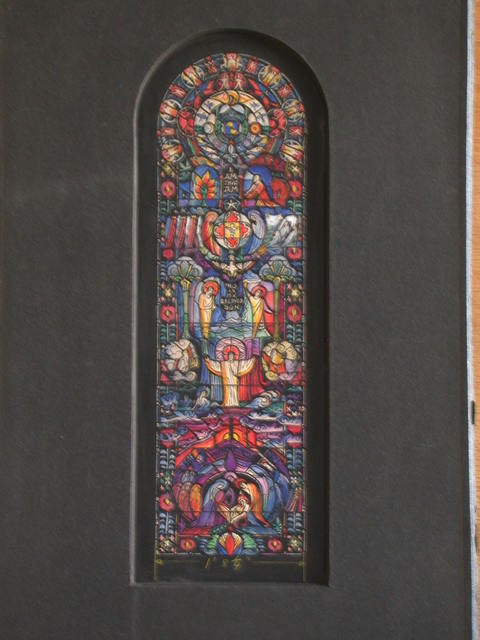 [Design drawing for stained glass Chancel Window with The Incarnation for St. John's Church in Tampa, Florida]