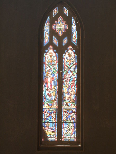 """[Design drawing for stained glass Clerestory window """"Teaching"""" for St. Stephen's Episcopal Church in Richmond, Virginia]"""