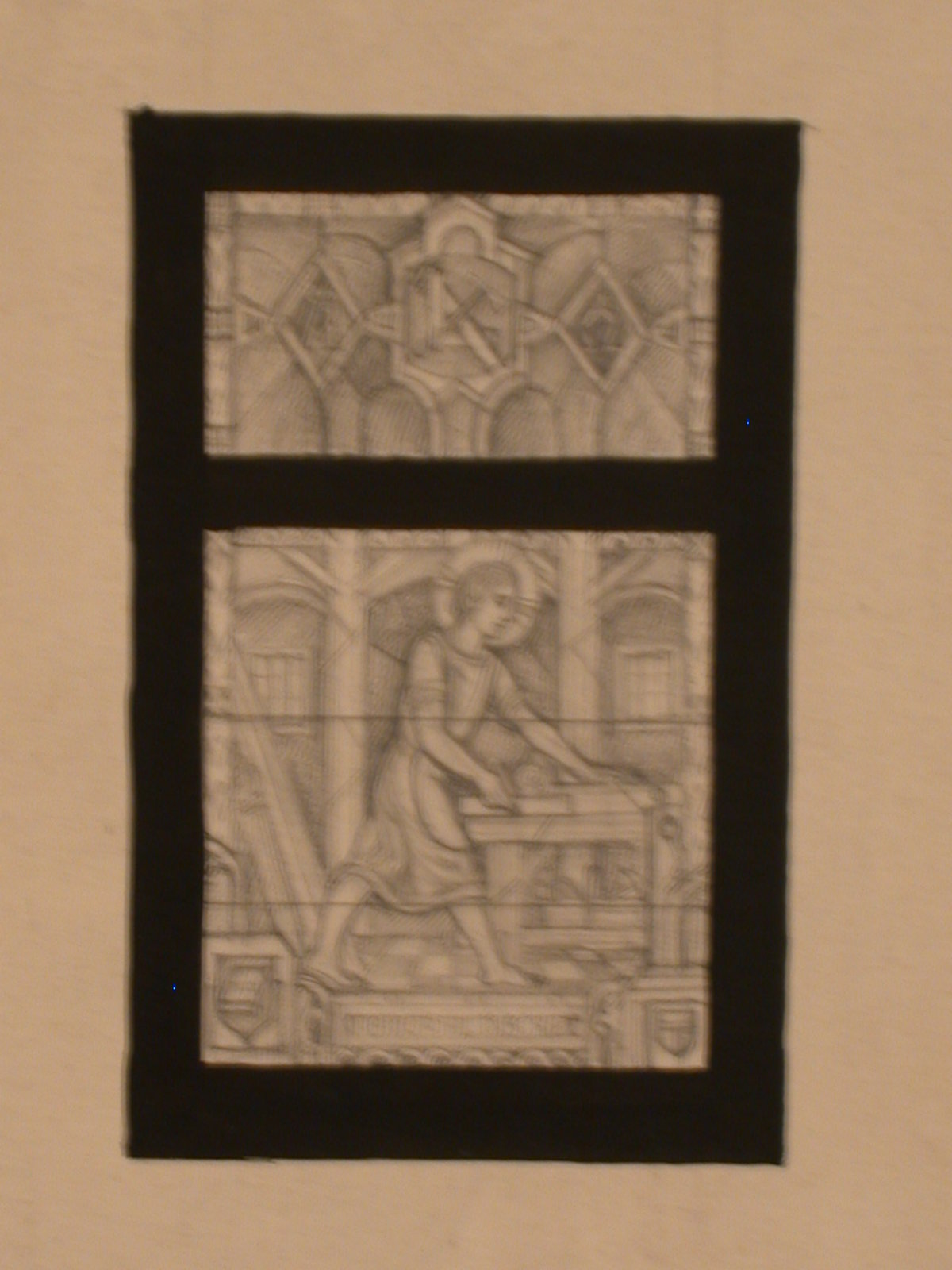 Design Drawing For Stained Glass Memorial Window Showing St Joseph