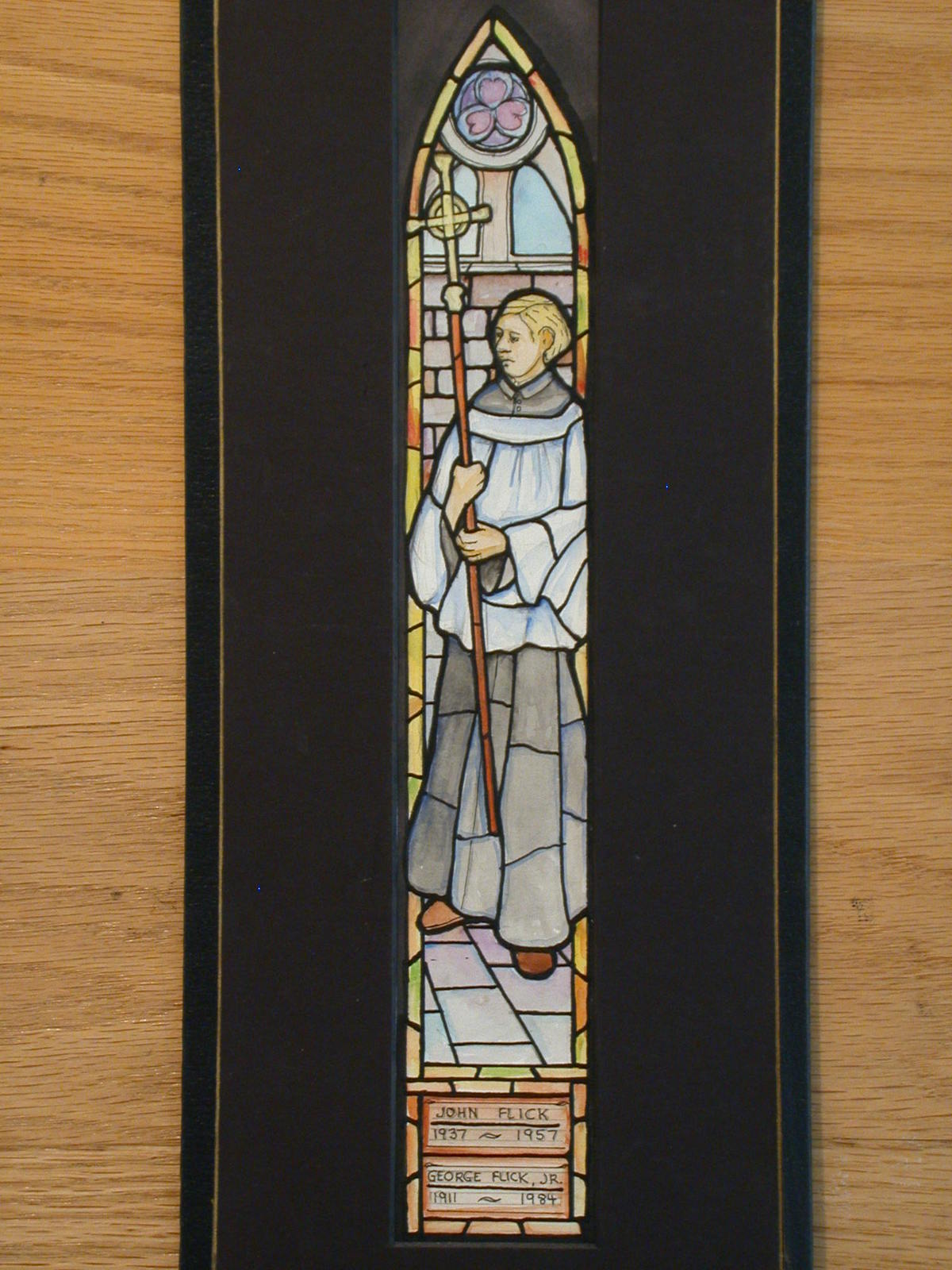 Carson Treasure Stained Glass Memorial Lamp