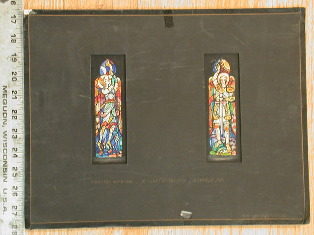 [Design drawing for stained glass Narthex windows for St. John's Church in Buffalo, New York]