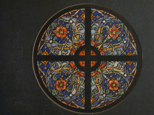[Design drawing for stained glass Rose Window]