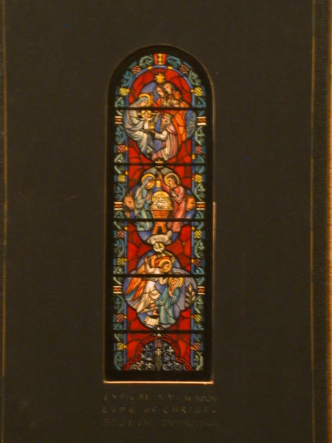 [Design drawing for stained glass typical Nave Window with Life of Christ for St. Jude Church in Detroit, Michigan]