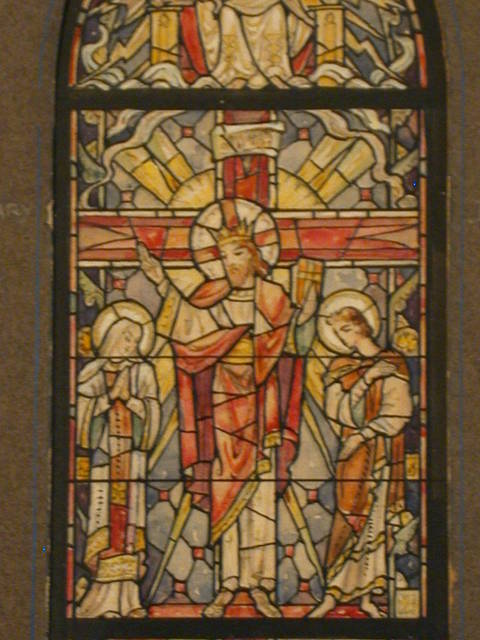 [Design drawing for stained glass window for All Saints Church in Winter Park, Florida, with Christ Triumphant]