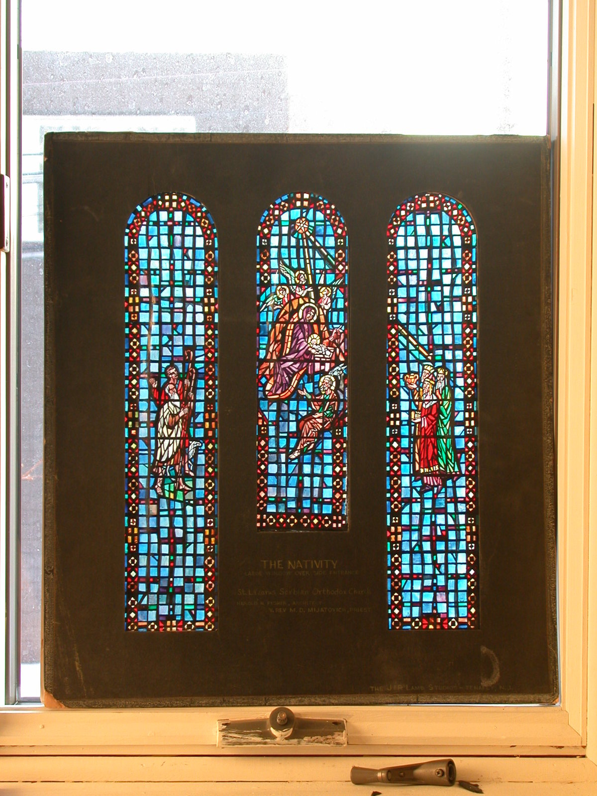 Design Drawing For Stained Gl With Nativity Large Window Over Side Entrance St