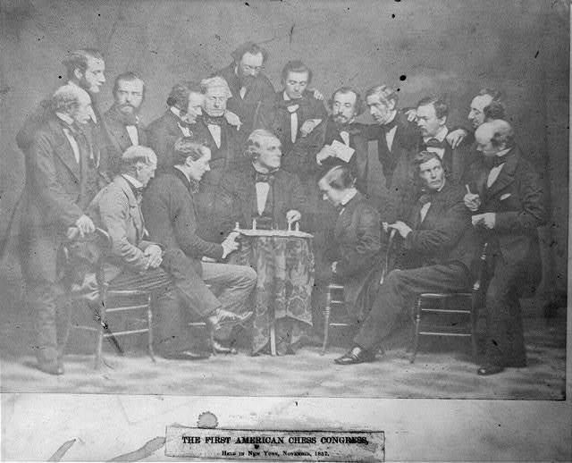 [First American Chess Congress held in New York City, November 1857]