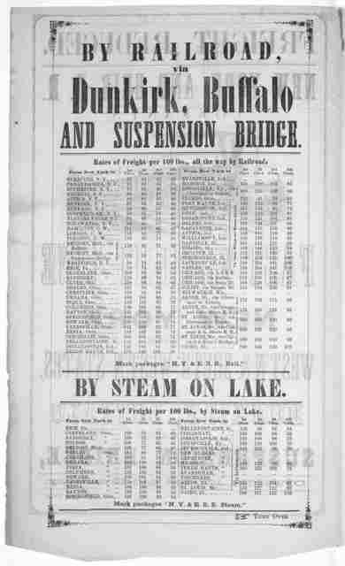 Freight reduced. New York and Erie R. R. company's fast freight line from New York to the west'n & south-west'n states, via Dunkirk, Buffalo and suspension bridge ... New York, August 1, 1857.