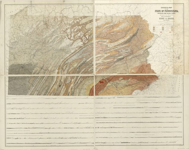 Geological map of the state of Pennsylvania : constructed from original surveys made between 1836 and 1857 /