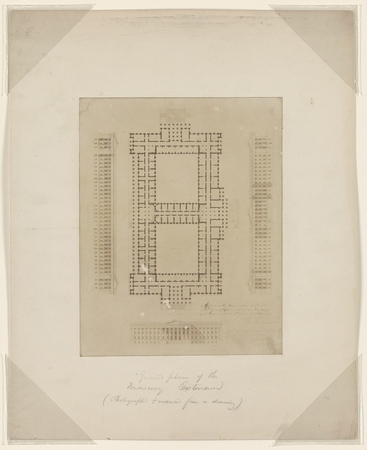 Ground floor of the Treasury extension (Photographed & reduced from a drawing).