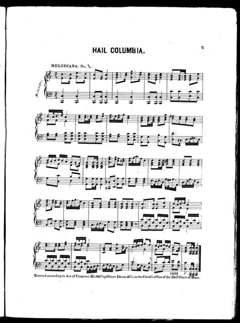 Hail Columbia -- Bohemian polka -- Requiem march
