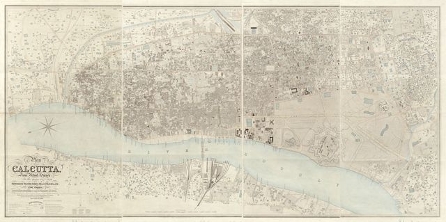 Map of Calcutta from actual survey in the years 1847-1849 /