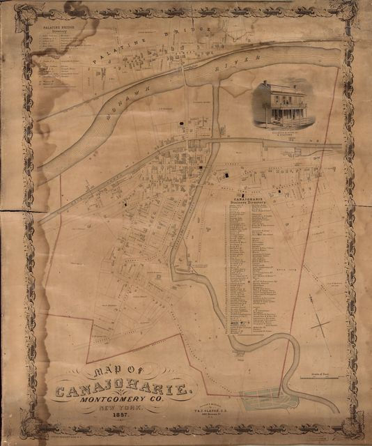 Map of Canajoharie, Montgomery Co., New York /