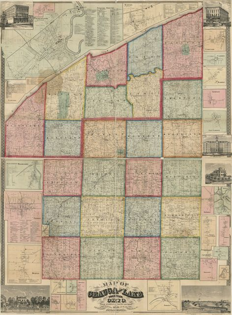 Map of Geauga and Lake counties, Ohio /