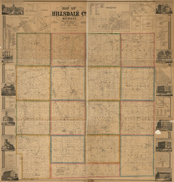 Map of Hillsdale Co., Michigan /