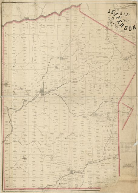 Map of Jefferson Co., Pennsylvania : from county map.