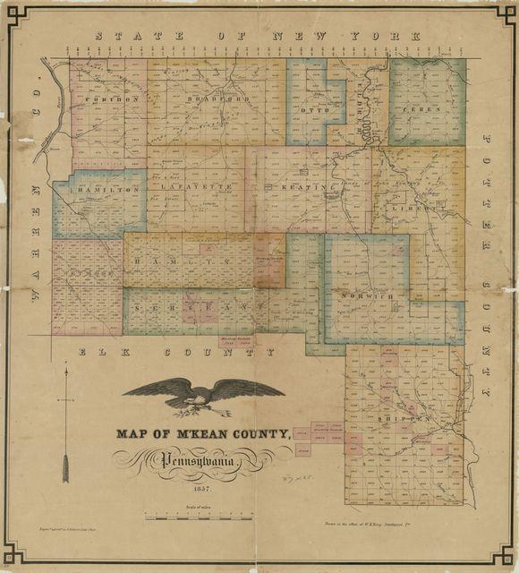 Map of M'Kean County, Pennsylvania /