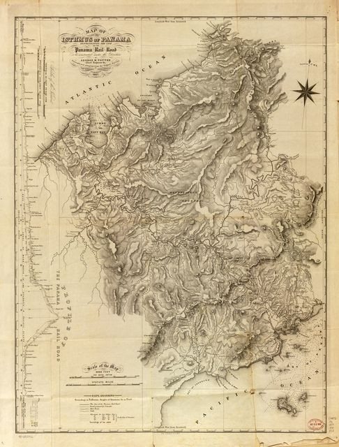 Map of the Isthmus of Panama representing the line of the Panama Rail Road as constructed under the direction of George M. Totten, chief engineer &c. /