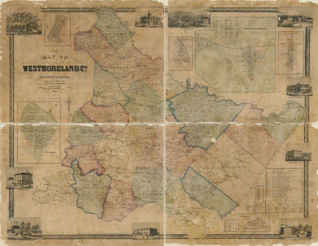 Map of Westmoreland Co., Pennsylvania : from actual surveys /
