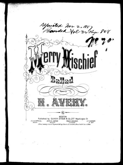 Merry mischief, ballad