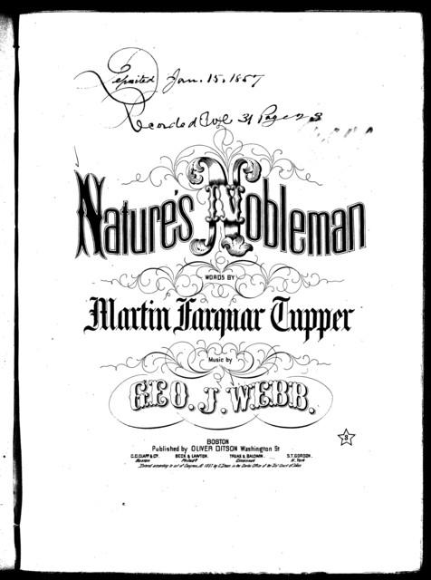 Nature's nobleman