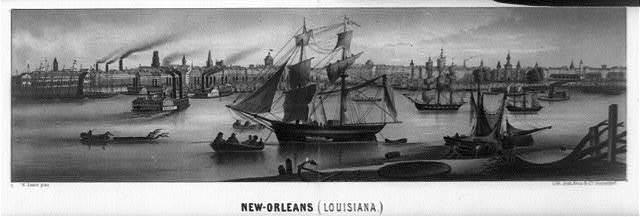 New-Orleans (Louisiana) / H. Lewis pinx. ; Lith. Jnst. Arnz & Co. Düsseldorf.