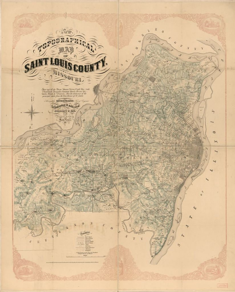 New topographical map of Saint Louis, Missouri /