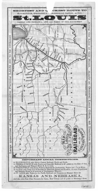 Original air line and United States mail route! 1857. Summer arrangement. 1857. St. Louis, Alton and Chicago air line railroad ... 1857. [Chicago? Ill.].