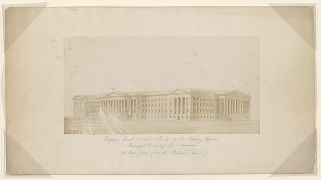 Proposed south & west fronts of the Treasury extension Photographed (& reduced) from a drawing - (the west front faces the President's house).