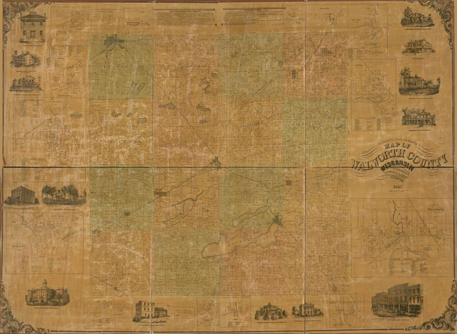 Redding and Watson's map of Walworth County, Wisconsin /