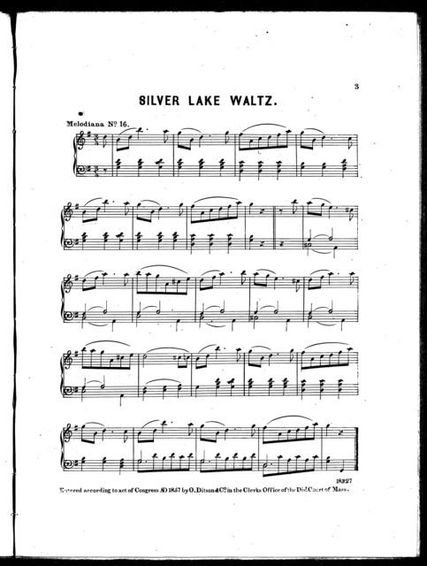 Silver lake waltz -- Villikens and his Dinah -- Washington's march