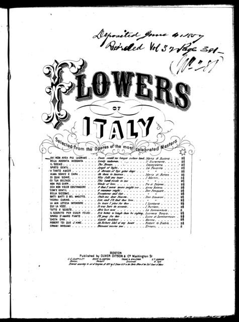 Tears could no longer solace lend = Ah! Non avea piu lagrime, romance from the opera Maria di Rudenz