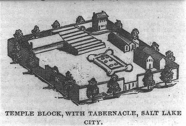 Temple block, with tabernacle, Salt Lake City