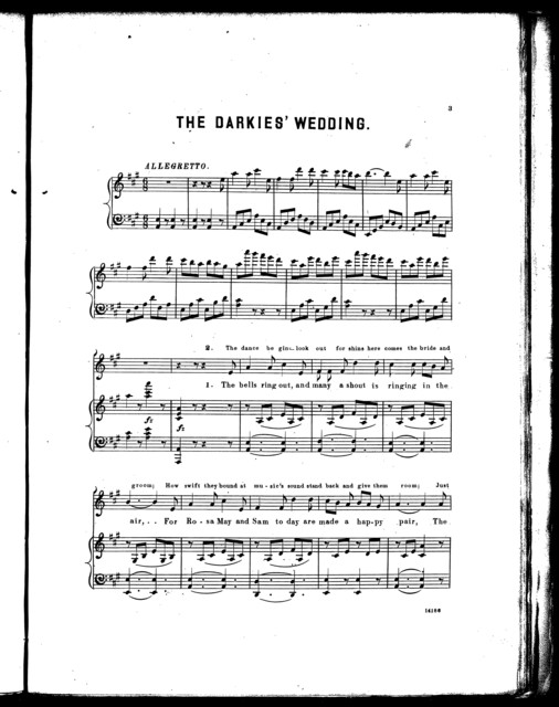The  darkies' wedding, or, Ding dong, skip along