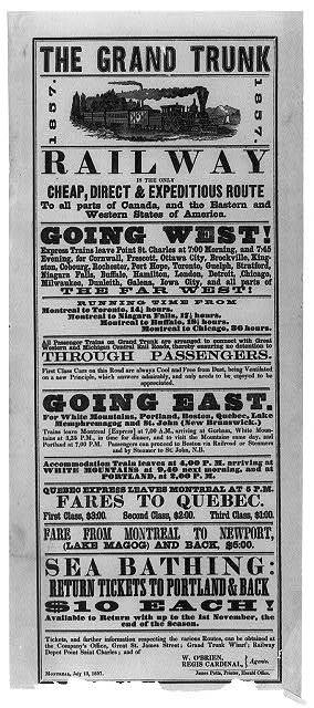 The grand trunk railway is the only cheap, direct & expeditious route to all parts of Canada, and the eastern western states of America