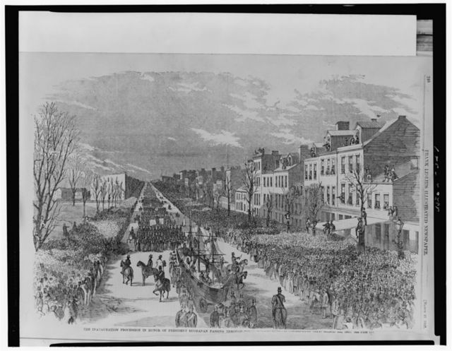 The inauguration procession in honor of President Buchanan passing through [...]