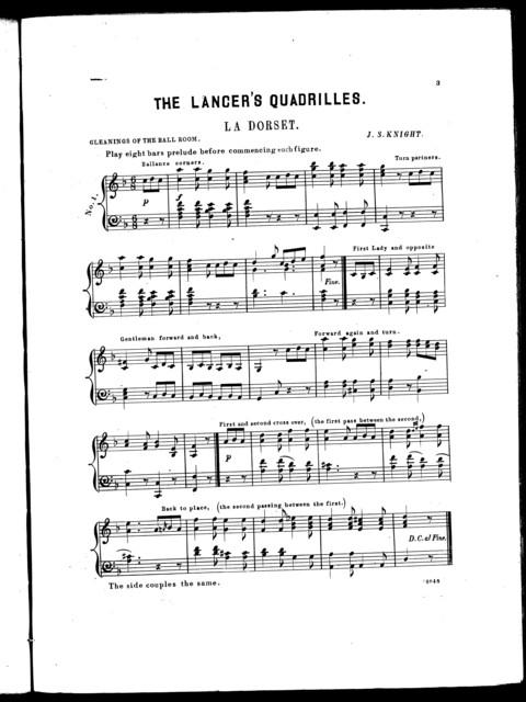 The  lancer's quadrilles