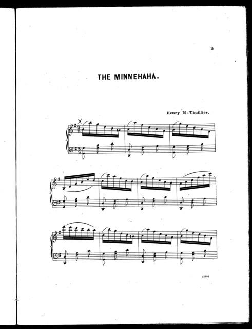The  Minnehaha, waltz