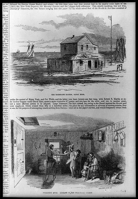 The Telegraph station, Sandy Hook - with view of operating room