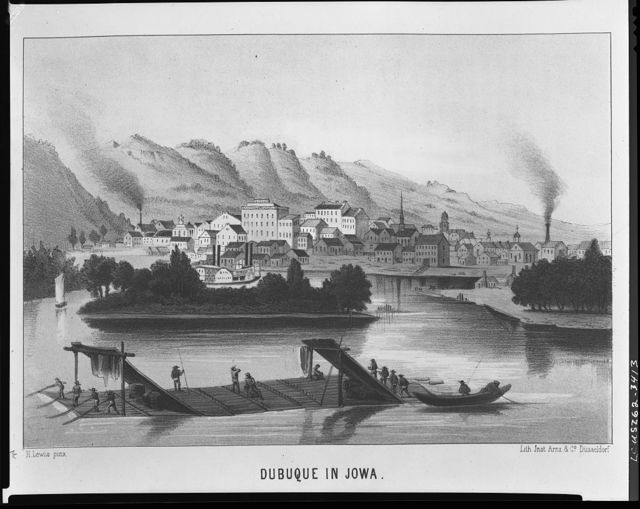 Views of towns in Iowa - Dubuque