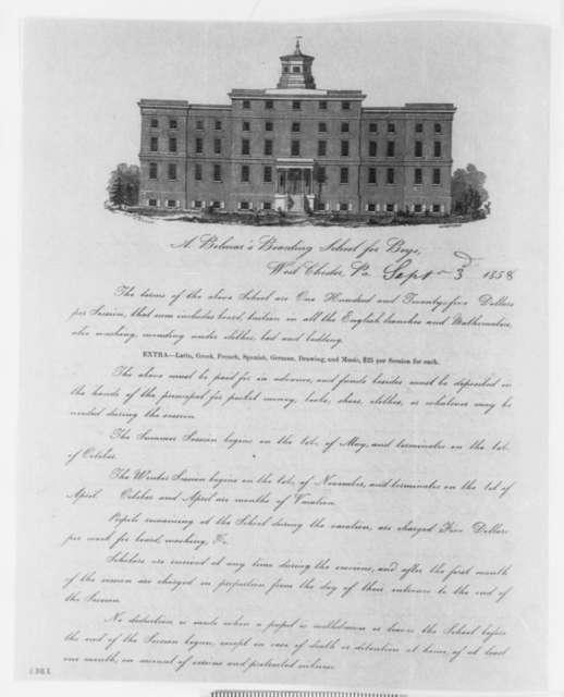 A. Bolmar to John B. Wagner, Friday, September 03, 1858  (Printed Circular Letter)