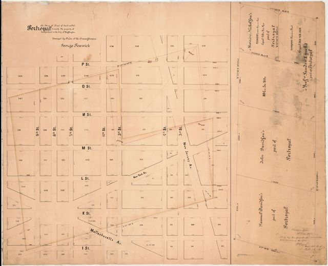 A map of tract of land called Portroyal, formerly the property of Joseph Comb in the city of Washington /