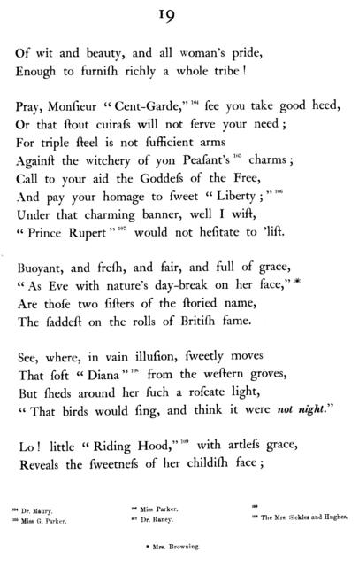 A metrical description of a fancy ball given at Washington, 9th April, 1858. Dedicated to Mrs. Senator Gwin.