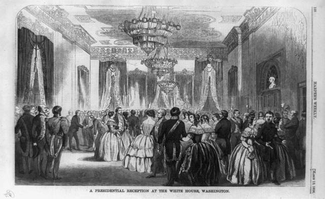 A Presidential reception at the White House, Washington