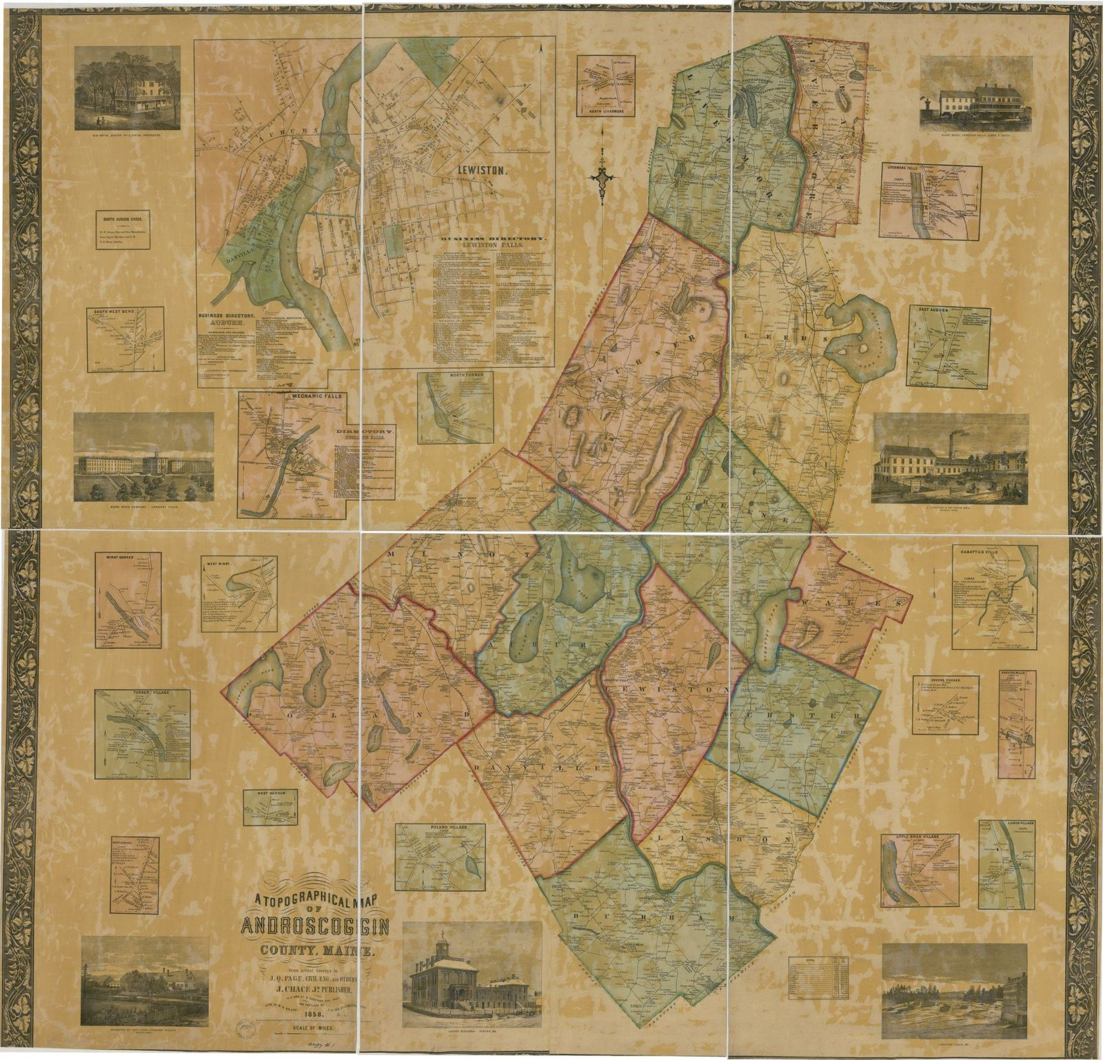 A Topographical Map Of Androscoggin County Maine Picryl